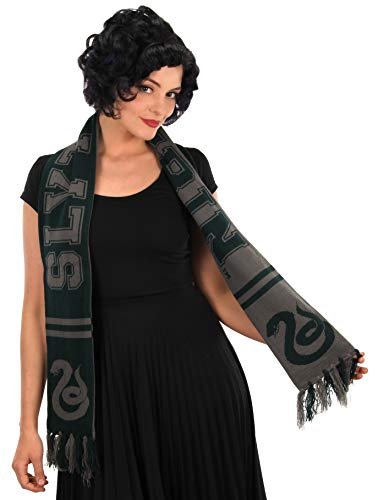 Harry Potter Slytherin Scarf Collegiate Style Reversible Green]()