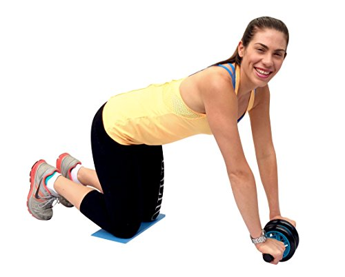 Maximiza Ab Roller Wheel by Garren Fitness This Abs Roller comes with a Knee Pad and Dual Wheels for Added Stability and Comfort, and is the Ab Wheel for a Perfect Core Workout