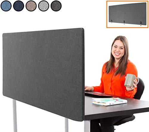 """Stand Steady ClipPanel Desk Mounted Privacy Panel 