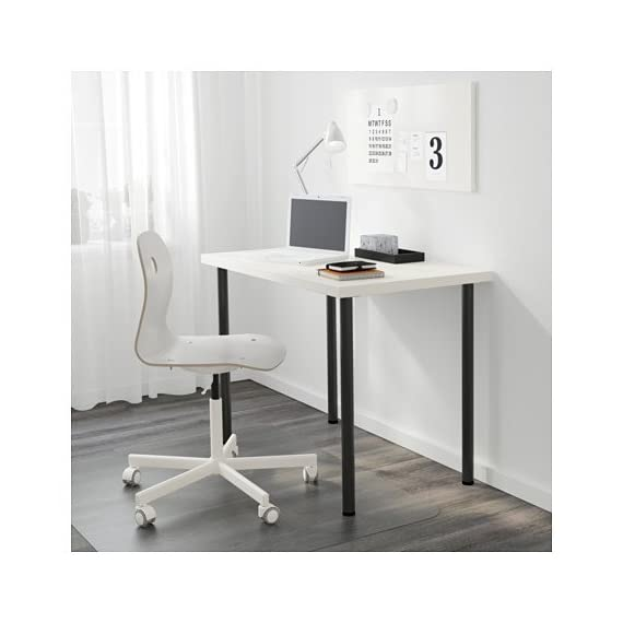 """IKEA New Computer Desk Table Multi-use (Black Legs) - Pre-drilled leg holes for easy assembly. Adjustable feet allow you to level the table on uneven floors. Size: 39 3/8x23 5/8 """" - writing-desks, living-room-furniture, living-room - 41KF9wEWGKL. SS570  -"""