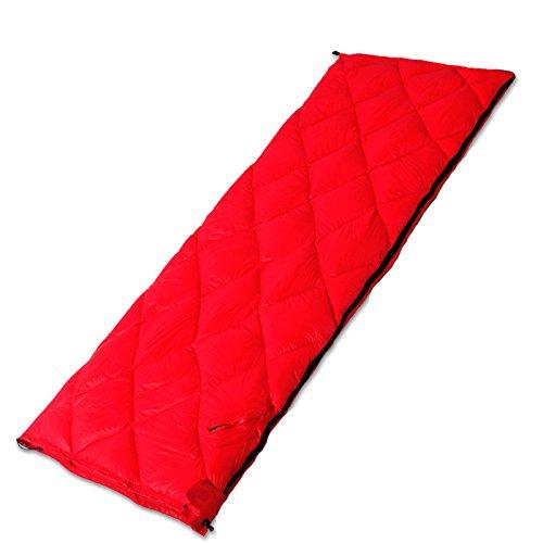 LJHA shuidai 寝袋アダルトアウトドアダウン寝袋シックシングルキャンプトラベル寝袋インドアスプライシングダブル寝袋 (色 : Red, サイズ さいず : 195 * 72CM(0.82kg)) B07FMJPFR9  Red 195*72CM(0.82kg)