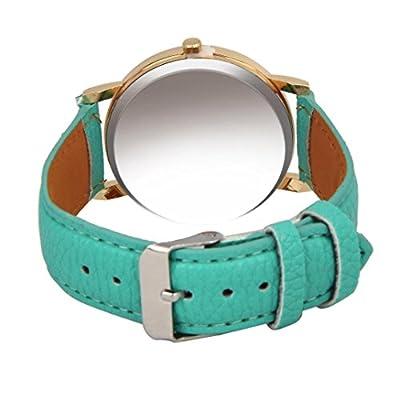 Tonsee Stylish Butterfly Leather Band Analog Quartz Wrist Watch