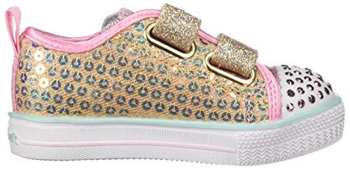Skechers Kids Girls' Shuffle Lite-Mini Mermaid Sneaker, Gold, 10.5 Medium US Little Kid by Skechers (Image #6)