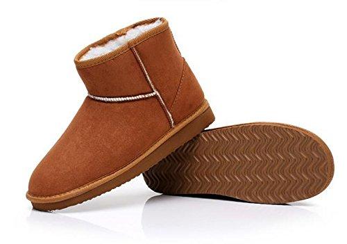 Classic Minetom Calzature Female Donna Flats Neve Marrone Stivali Shoes Autunno Moda Inverno Mini 551pOxwn