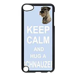 Custom Schnauzer Dog Keep Calm and Hug Hard Case Back Cover for Ipod touch5