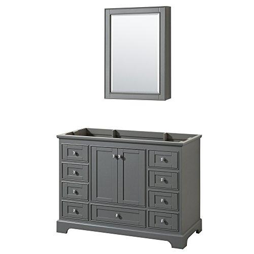CS202048SKGCXSXXMED Deborah Single Vanity Countertop, No Sink, and Medicine Cabinet, 48