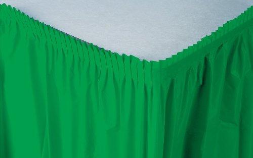 Creative Converting Plastic Table Skirt, Emerald Green, 14 Feet