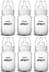 Pack of 6 Philips Avent BPA-Free 9-Ounce Classic+ Feeding Bottles