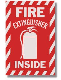 1-Sign-FIRE-EXTINGUISHER-INSIDE-White-on-Red-Self-Adhesive-6x9-Signs
