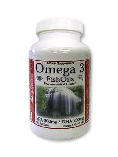 Oméga 3 huiles de poisson, EPA, DHA, incroyable cerveau année Natural Pharmacy, la mémoire et le supplément pour la santé cardiovasculaire avec de la vitamine E 120ct, 4 Mois d'approvisionnement