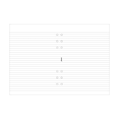 Filofax A5 Ruled White Note Pad (B342210)
