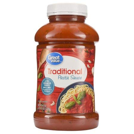 Traditional Pasta Sauce, 45 oz Good Source of Dietary Fiber,Chunky Texture Rich Taste That is Perfect for Homemade Pastas,Good Source of Dietary Fiber,Pack of 3