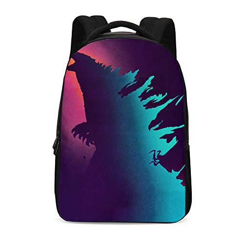 Godzilla Backpack,Godzilla King of The Monsters Backpack School Bags for Student Men Women]()