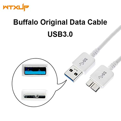 Computer Cables USB 3.0 A to Micro-B Charger/Sync Cable for Buffalo MiniStation 500GB USB 3.0 Portable Hard Drive 1TB 2TB, 3FT 50CM - (Cable Length: ()