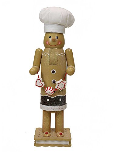 Gingerbread Man Nutcracker with Bakers Hat [14705]