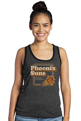 NBA Phoenix Suns Women's Premium Triblend Contrast Tank Top, Medium, Black