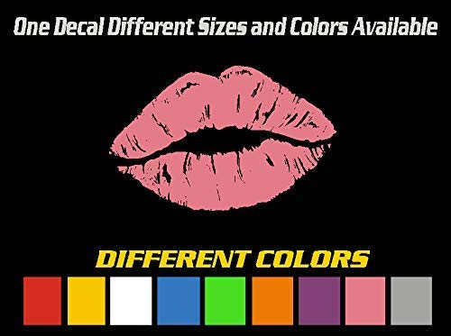 1 Lip Decal Emblem Sticker Different Colors and Sizes Graphic