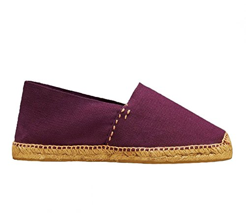 Espadrilles DIEGOS Hand Men's Burgundy in Made Women's Spain vvwEnq7gT