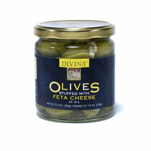 Divina Olives Stuffed With Feta Cheese, 7.8-Ounce Jars (Pack of 3)