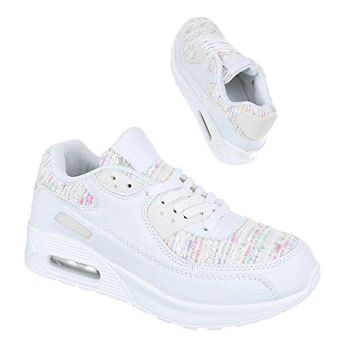 blanco Ital para Zapatillas Design mujer Blanco XZUZ1Pn
