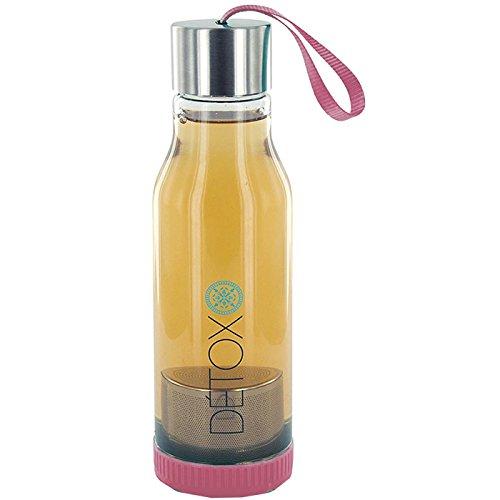 Botella d/étox infusor de t/é 500/ml/ /fucsia