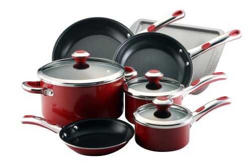Clocks: Farberware Select 10-Piece Cookware Set, Red ...