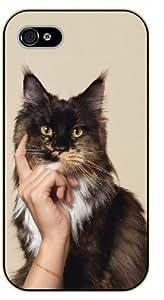 iPhone 5C Funny thinking cat - black plastic case / Nature, Animals, Places Series