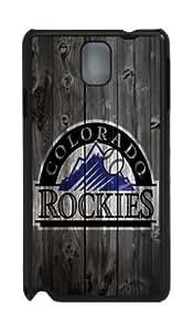 Colorado Rockies wood background Samsung Galaxy Note 3 N9000 Case, Design Black Samsung Galaxy Note 3 N9000 case by vipcustomonline