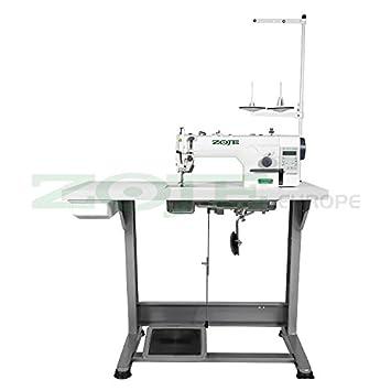 Zoje - Máquina de coser industrial automática, completamente montada sobre mesa: Amazon.es: Hogar