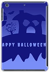 iPad Mini Retina Case Cover,Holidays Halloween House Moon Tree Bat 3D Hard Shell Case for iPad Mini 2