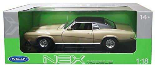1/18 1970 フォード マーキュリー クーガー XR7 (ゴールド×ブラック) WE12521GL