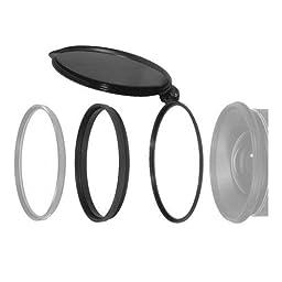 OP/TECH USA 0701771 Converter Cap 77mm - Flip-Open Lens/Filter Cap for Cameras