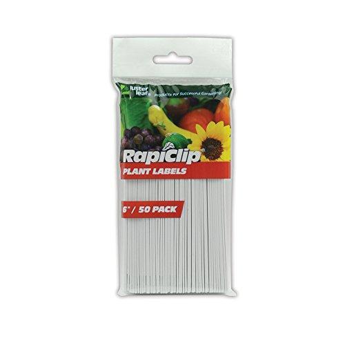 Luster Leaf Rapiclip 6-Inch Garden Plant Labels - 50 Pack - Garden Labels Plant