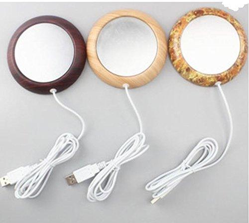 Cup Warmer Wood Grain USB Silicone Electric Mug Drink Coaster Tea Coffee Insulation Coaster Heater by ShopIdea
