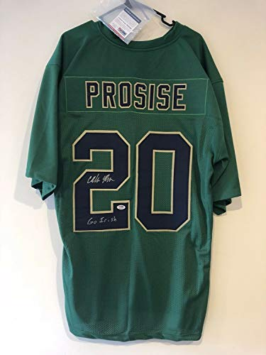 Cj Prosise Autographed Signed Memorabilia Notre Dame Green Jersey Authenticated - PSA/DNA Authentic