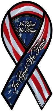 In God We Trust 2-in-1 Ribbon Magnet