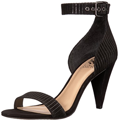 Vince Camuto Women's CASHANE Heeled Sandal, Black, 6 M US from Vince Camuto