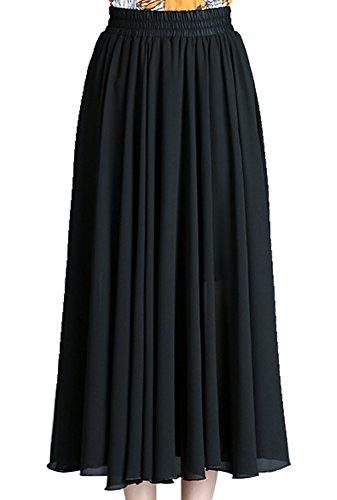en Mousseline Longues Bohme Style Soie Modle Femmes FEOYA Jupes 1 de wWAqOac7