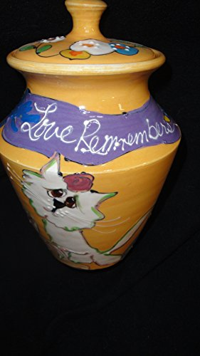Cat Memorial Urn Personalized with your pet name and signed by the Artist by Faux Paw Productions, Inc., Laguna Beach, CA