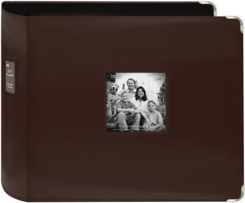 T12JF-BN 12 x 12 xL D-Ring Leatherette Scrapbook Binder Brown by Pioneer Photo Albums ()