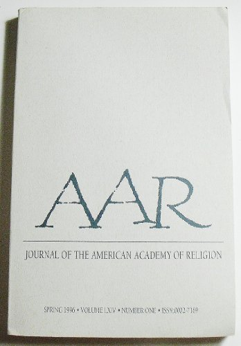 Books : Journal of the American Academy of Religion (Volume LXIV Number One, Spring 1996)