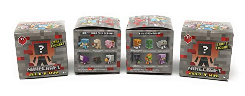 Minecraft Redstone Series 11 Build-A-Mini Figure Blind Box (Pack of 4)
