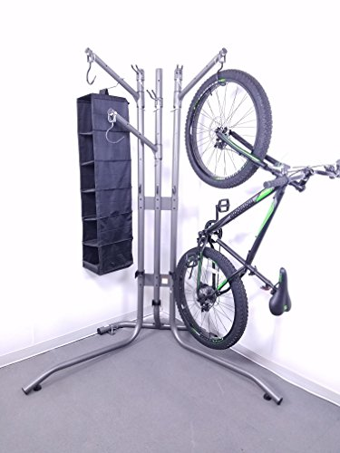 (New Product) Premium Rec-Rack | Garage Organizer | Cargo Storage Rack for Bicycles, Skis, Skateboards, Helmets, & More! by Rec-Rack