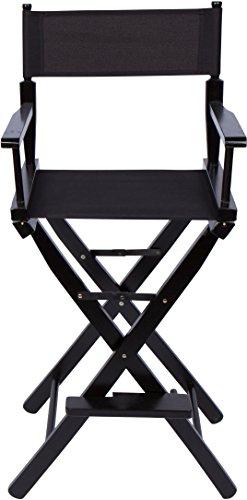 Trademark Innovations DIREC30BW-BLK Director Chair, Black