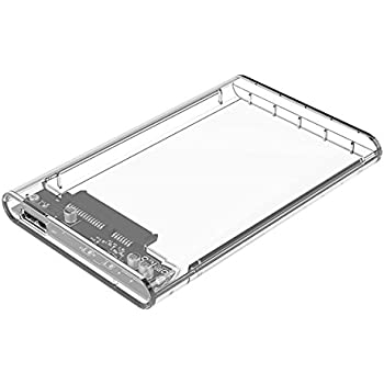 ORICO Tool-Free External Hard Drive Enclosure for 2.5 Inch SATA HDD and SSD - USB 3.0 Micro B [SSD UASP SATA III Optimized] - Clear