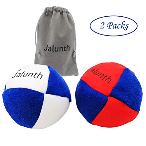 Jalunth Hacky Sack Footbag Balls Game Bags Bulk Set of 1 2 3 with Carry Bags No-Bust Hand Stitching