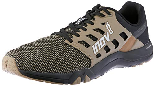 (Inov-8 Mens All Train 215 Knit | Lightweight Cross Training Athletic Shoe | for Versatile Training | Great Support When Weight Lifting and Power Lifting |Black/Brown M10.5/ W12)