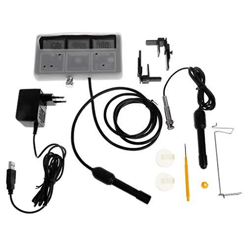 (YUNAWU Water Quality Tester 6 in 1 Monitor pH Meter Aquarium Water Meter for PH/Temperature / EC/CF / PPM/TDS)