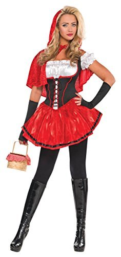 Amscan Womens Riding Hood Halloween Costume (X-Large (14-16) Red
