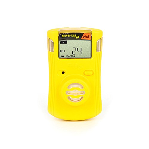 Hydrogen Monitors Sulfide (Gas Clip Technologies SGC-H Single Gas Clip H2S, 2 Year Hydrogen Sulfide (H₂S) Detector, Set Points: Low-10 ppm High-15 ppm)